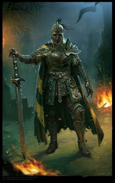 a collection of inspiration for settings, npcs, and pcs for my sci-fi and fantasy rpg games. Armadura Medieval, Death Knight, Knight Armor, Undead Knight, Fantasy Armor, Medieval Fantasy, Dnd Characters, Fantasy Characters, Character Portraits