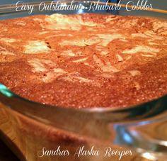 Sandra's Alaska Recipes: SANDRA'S EASY OUTSTANDING RHUBARB COBBLER