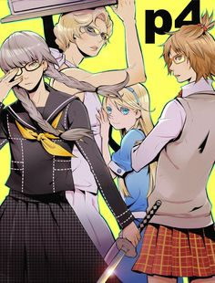p4, crossdress this episode and mission in the game was hilarious  credits to the artist!
