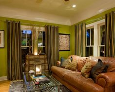 Living Room Green Wall Design, Pictures, Remodel, Decor and Ideas