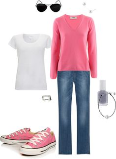 Pink Chuck's, created by tabbyabby on Polyvore