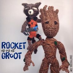 I love @marvel movies a lot. Working on some more designs but in the meantime heres some I made a while back  #rocketraccoon #rocketandgroot #groot #iamgroot #guardiansofthegalaxy #gotg @jamesgunn #fanart #fanartfriday #gotgfanart #gotg2  #craftyiscool #crochet #amigurumi