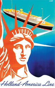 Holland-America Line travel poster
