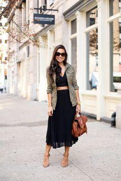 Simple Minimal Style Women/'s Medium Work Skirt 90s Khaki Minimalist Skirt Ash Grey Brown Classic Straight Cut w Butt Pockets