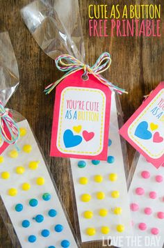 Cute As A Button FREE Valentine Printable by Love The Day