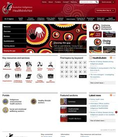 HEALTH INFONET - The Australian Indigenous HealthInfoNet is an innovative Internet resource that aims to inform practice and policy in Indigenous health by making research and other knowledge readily accessible. In this way, we contribute to 'closing the gap' in health between Indigenous and other Australians.