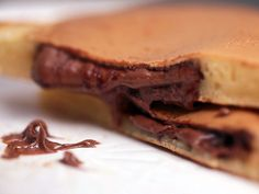 Pancakes coeur coulant à la pâte à tartiner, facile et pas cher
