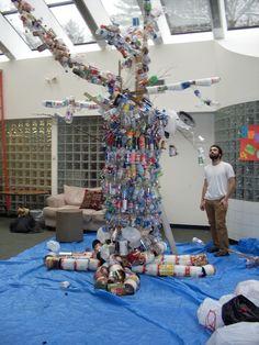 Art using recycled materials kindergarten 50 recycle for Wall decor using recycled materials