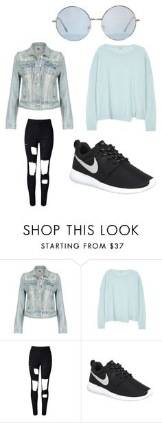"""""""Untitled #2"""" by kenan-huskic ❤ liked on Polyvore featuring J Brand, NIKE, women's clothing, women's fashion, women, female, woman, misses and juniors"""
