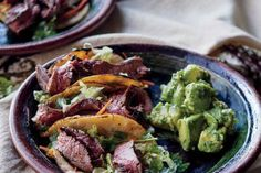Korean tacos I've devoured at food trucks in Los Angeles, I created this version. The marinade for the steak is to die for. I guarantee you'll want to try it with Korean-style short ribs, pork tenderloin, and grilled chicken