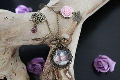 Fotohanger ketting in oud bronskleur. Om een mooie herinnering in te bewaren en bij je te dragen.