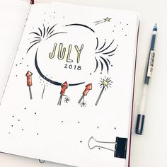 Can you believe it's July already?? Like what the heck? we are already more than halfway through the year. It's freaking me out! #bujo #bulletjournal #coverpage