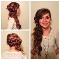 Side swept #hair #hairstyle