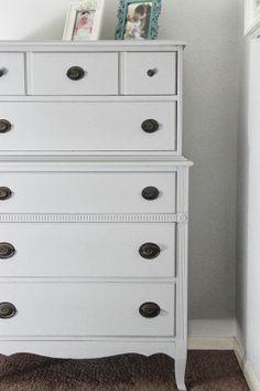 Gray Dresser in Annie Sloan's Paris Gray