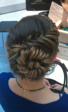cute braid and bun