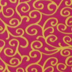 Blizzard Fleece Fabric- Beetroot Lemon Scrolls at Joann.com