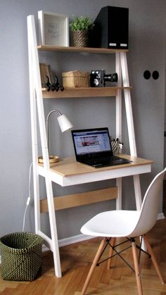 New room decor ideas desk small spaces Ideas Small Home Offices, Home Office Desks, Home Office Furniture, Small Apartments, Furniture Ideas, Small Office Desk, Office Table, Mini Office, Office Spaces