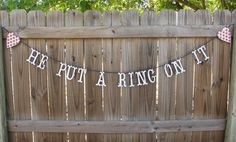 cute decoration for an engagement/bridal shower or bachelorette party.