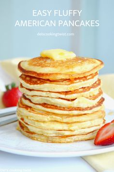 Back to basics today, with the easiest pancakes recipe ever. With only 6 ingredients and 2 minutes preparation, you get the perfect fluffy American pancakes for breakfast! I have shared pancakes re… More from my siteEasy Fluffy American Pancakes Pancakes Easy, Breakfast Pancakes, Homemade Pancakes, Recipe For Pancakes, Simple Pancake Recipe, Breakfast Casserole, Banana Pancakes, Breakfast Bake, Desert Recipes