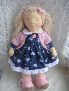 """Waldorf doll 16"""", waldorf fabric doll, steiner doll, cloth doll, gift for girl, organic doll, waldorf toy Más"""