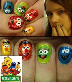 sesame street nail polish