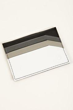 nixon slim leather card case - contrast colour