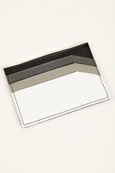 nixon slim leather card case - contrast colour