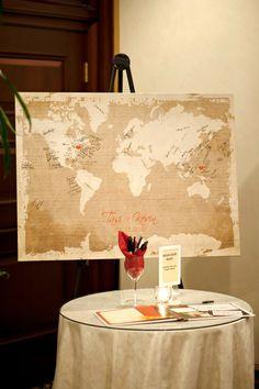 Guest signature map wedding
