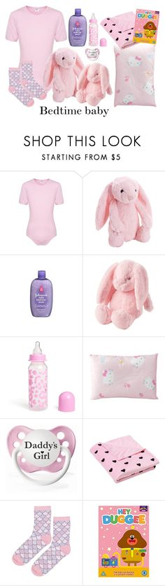 """Untitled #1900"" by cheesinjuliet ❤ liked on Polyvore featuring Jellycat, H&M, Hello Kitty and Topshop"