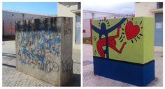 Graffitis realizados para embellecer las calles de Melilla. Fotos del antes y el después.