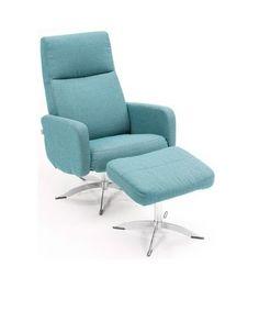 Fauteuil-3288-lichtblauw-draaibaar-verstelbaar-verstelbare-rug-stervoet-chroom-horizontaal-stiksel-modern-armleuning-hjort-knudsen-utrecht-bilthoven-voetsteun Eames, Lounge, Utrecht, Chair, Furniture, Modern, Home Decor, Armchairs, Airport Lounge