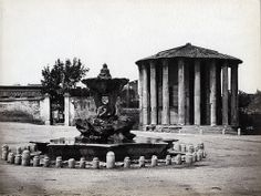 Fratelli Alinari - Tempio di Vesta, Rome, ca 1880    #TuscanyAgriturismoGiratola