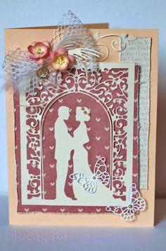 blueagata: wedding card