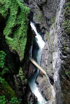 Breitachklamm river, Bavaria, Germany #nature