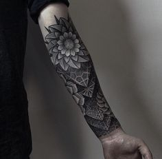 flower tattoos for men forearm - Google Search