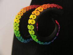 Rainbow Tentical Post earrings
