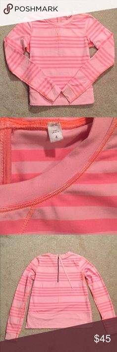Lululemon Athletica Striped Pullover Coral striped Pullover from Lululemon Athletica. Quarter zip. Great condition! lululemon athletica Tops Sweatshirts & Hoodies
