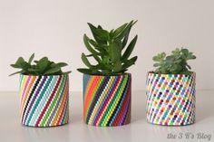 DIY Woven Bead Planter (Update) | the 3 R's blog