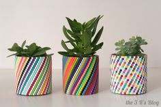 DIY Woven Bead Planter (Update) | the 3 R's blog