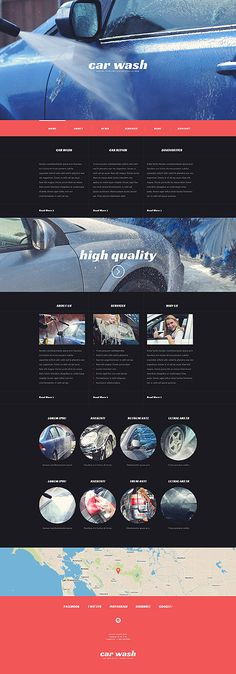 Car Wash Services Website #WordPress #template. #themes #business #responsive