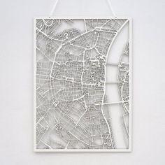 3D-Karte von berühmten Städten
