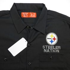NEW NWT DICKIES Pittsburgh Steelers STEELER NATION FOOTBALL WORK SHIRT All Sizes #Dickies #ButtonFront
