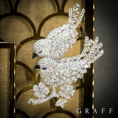 Love Birds flock to Graff's BaselWorld stand - A true testament to extraordinary jewellery design, this stunning brooch features 46.25 carats of scintillating diamonds. #GraffDiamonds #BaselWorld2016 #FineJewellery #LoveBirds