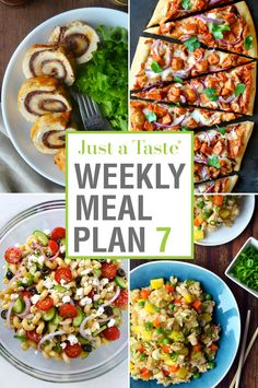 Get organized for the week ahead with our seventh Weekly Meal Plan and printable Shopping List featuring week's worth of quick-fix meals!