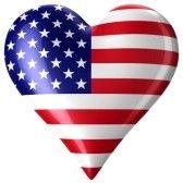 een hartje in de vorm van de amerikaanse vlag! omdat ik van Amerika hou, en ik er super graaag 1 jaar wil wonen!