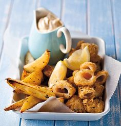 Lulas fritas com batatas (Foto: StockFood / Gallo Images Pty Ltd.)