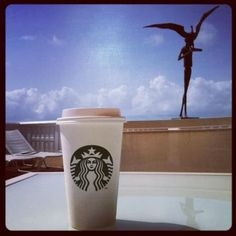 Nice cup of Starbucks coffee always helps to start the day off right even on vacation!