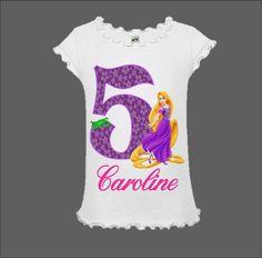 Rapunzel Birthday Shirt Tangled Birthday Shirt by funfashionsetc