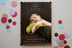 Love at First Sight Birth Announcements by Kimberly FitzSimons at minted.com