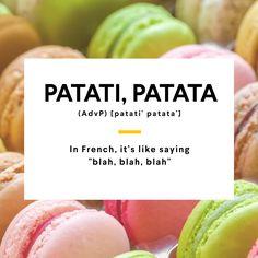 Blah, blah, blah #Languages #French